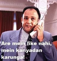 Hindi photo comment of Alok Nath