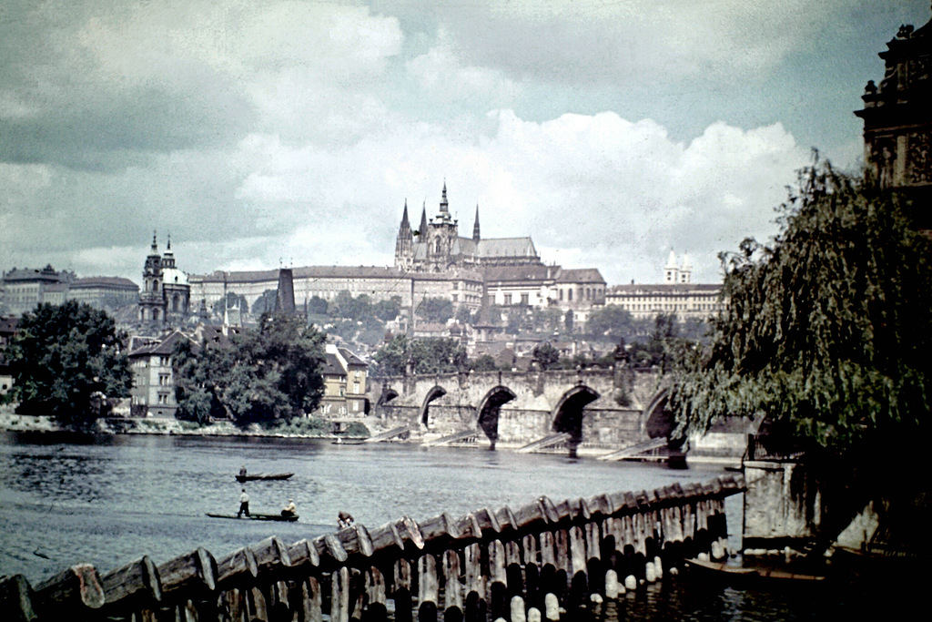 wonderful color photos of prague in 1946