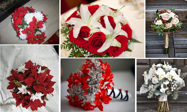 Bouquet da sposa invernali christmas winter wedding flower bouquet inspiration board