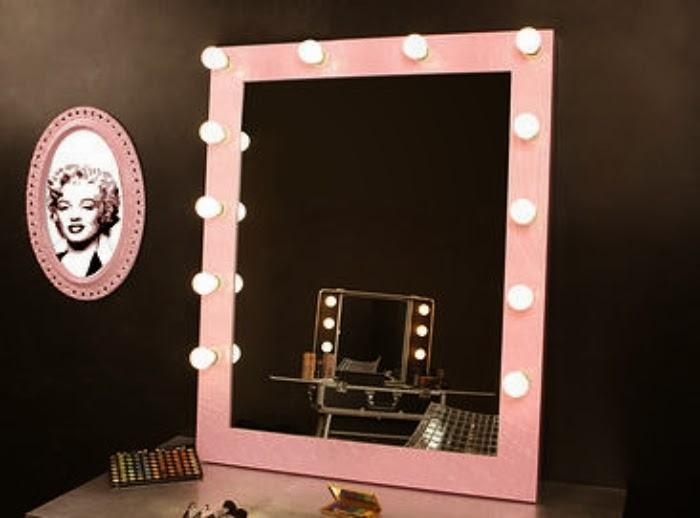 Dekotipo design pack espejo maquillaje consola con patas - Espejos de camerino ...