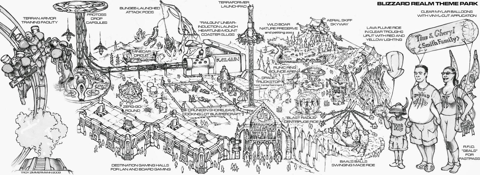 Projekt Parku rozrywki na konkurs Blizzarda