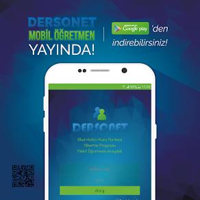 DERSONET MOBİL ÖĞRETMEN APP YAYINDA!