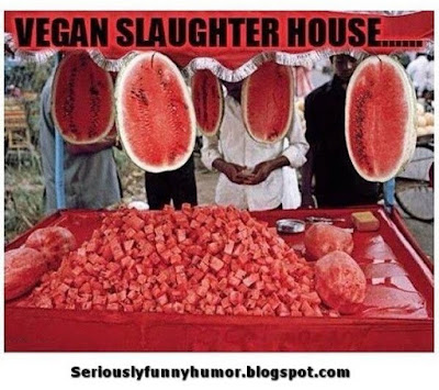 Vegan watermelons slaughterhouse