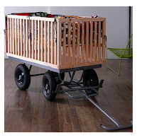 repurposed recycled drop side crib