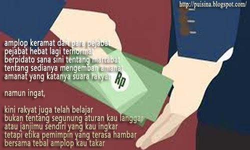 Puisi Politik Arjuna Linglung Kehilangan Amplop