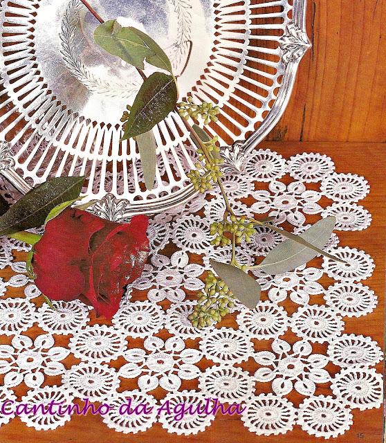croche com receitas centro de mesa em croche naperon flores e circulos