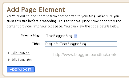Add Page Element