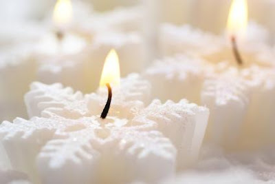 Floating Candles Christmas Wallpaper