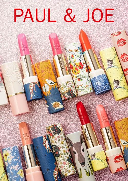paul and joe lipsticks makeup cosmetics beauty paul&joe פול אנד ג'ו אסוס