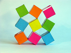Origami Maniacs Moving Cubes By Heinz Strobl