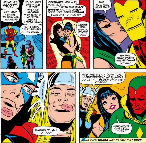 Avengers 114 Mantis kissing