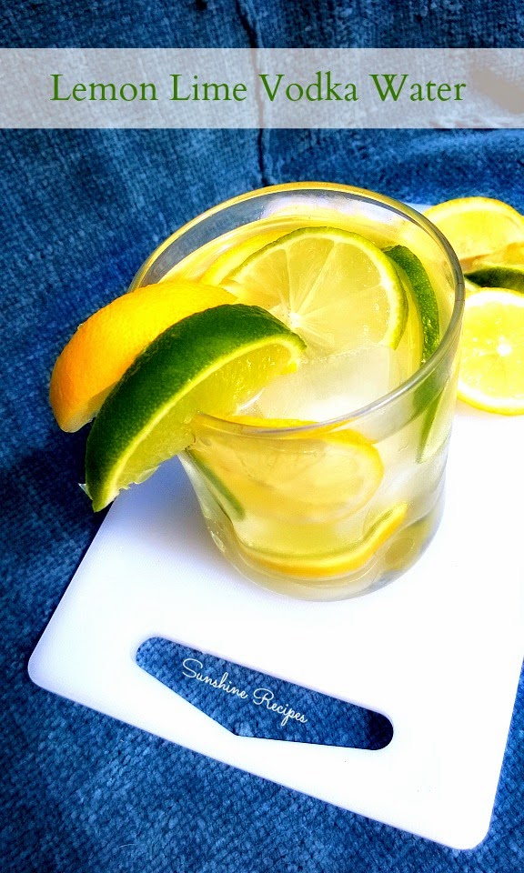 Lemon Lime Vodka Water - This citrus drink is no calories and tastes as healthy and refreshing as water with lemon! | Sunshine Recipes