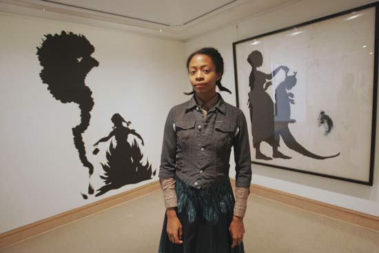 "kara walker evoking history with black Calling out official american history as ""garbage,"" deville uses discarded  materials  complex room-sized installations evoking the overlooked histories of  black americans in all its messiness and grandeur  kara walker."