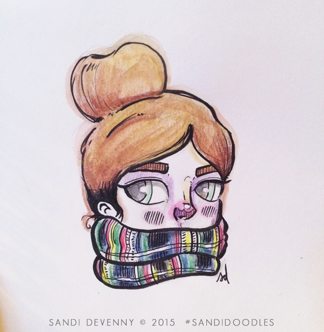 Illustration by Sandi Devenny #sandidoodles #illustration #girl