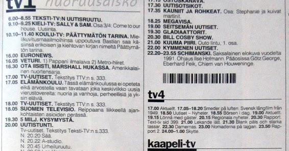 tv2 ohjelmat sunnuntai Mantta-Vilppula