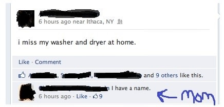 I miss my washer and dryer