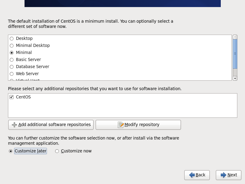 VMware vCloud Director Using Cent OS for Operating system