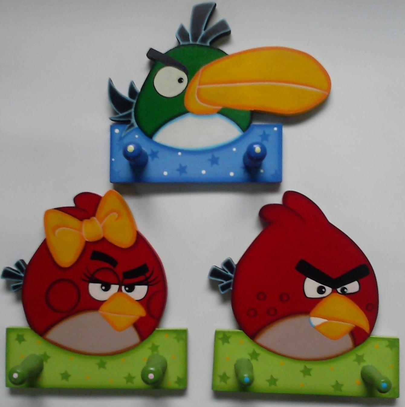 ESCENARIO, TARJETAS Y PERCHERO EN MDF DE ANGRY BIRDS EN FOAMY Y ...