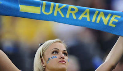 Ukraine girls fans Euro 2012