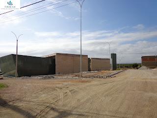 Obras do Centro de Convenções do Cariri em Crato.