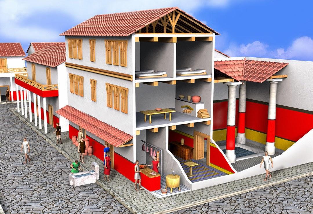Trabajando con personitas las casas romanas o domus y las for Atrio dentro casa