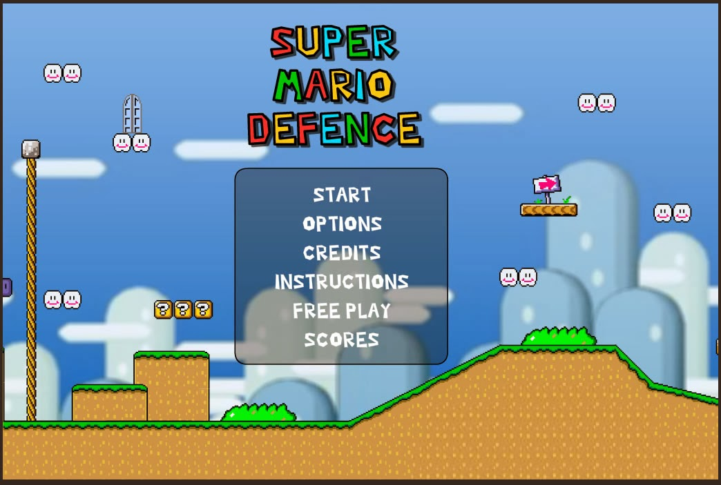 Super Mario Defence FLASH GAME
