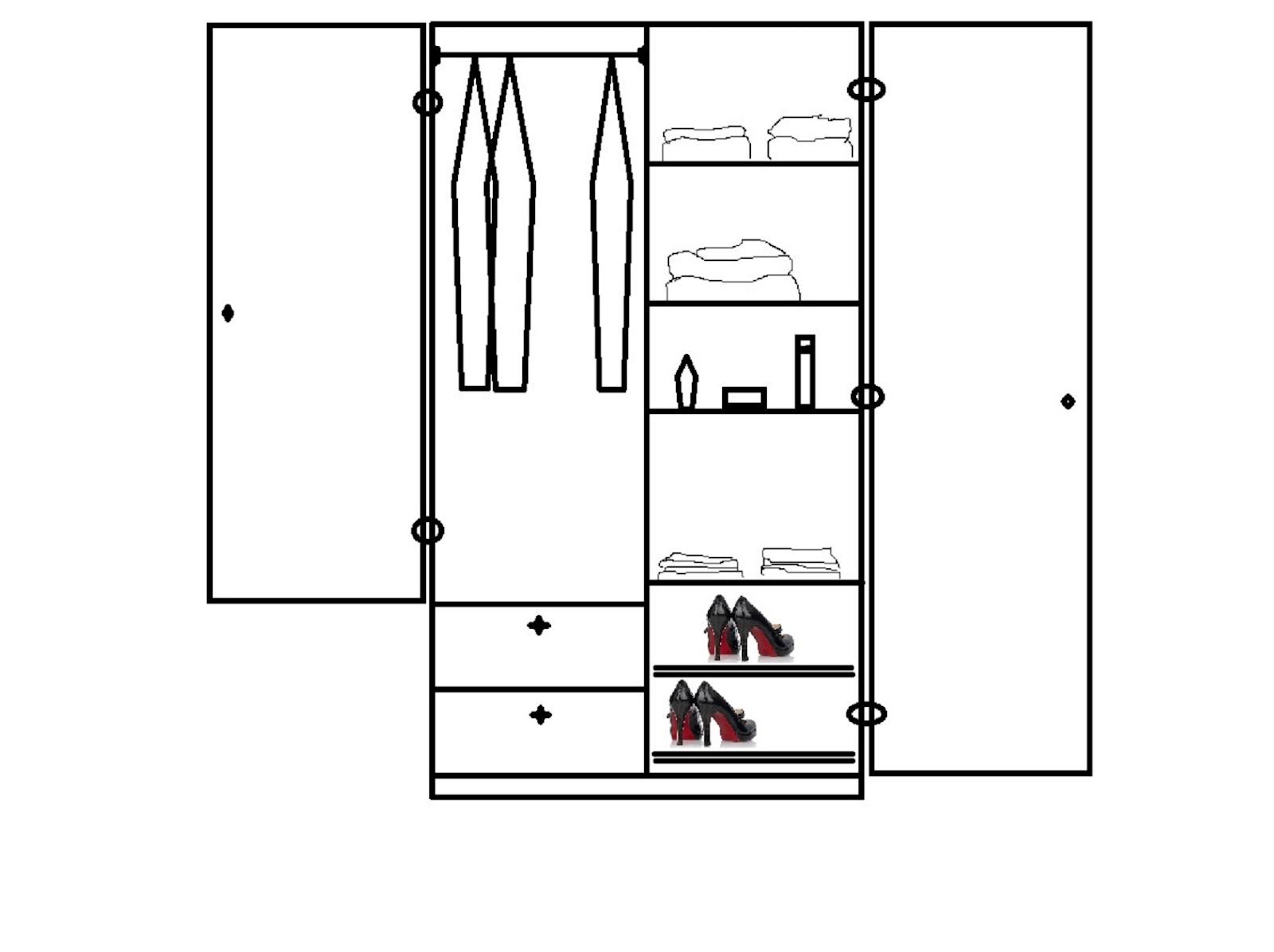 Muebles de los angeles planos de roperos compuestos y simples for Planos de roperos