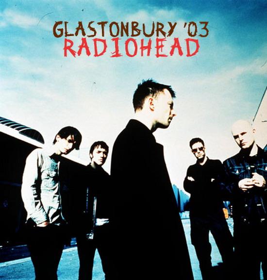 Radiohead - Glastonbury - 2003 affiche