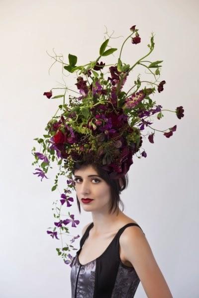 hårdekoration blommor, florist hårdekoration, floral headpiecec, florist headpieces
