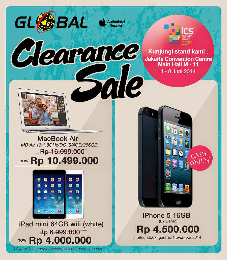 Daftar Promo Global di ICS 2014