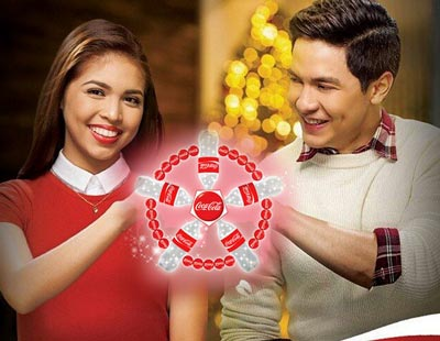 Startattle.com - aldub love team billboard yaya dub maine mendoza alden richards coca cola wish upon a parol event araneta center christmas tree coliseum free family contest gifts win winner philippines facebook