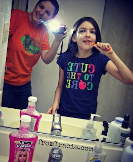 Katarina Bushing Her Teeth