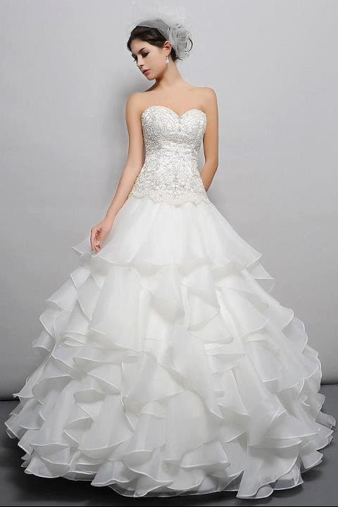Girls Stuff>> Beautiful White Bridal and NewYear Collection Frocks ...