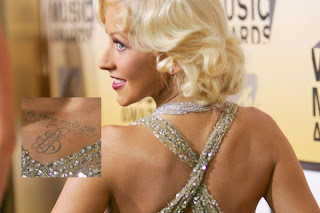 Christina Aguilera Tattoo Design - Celebrity Tattoos