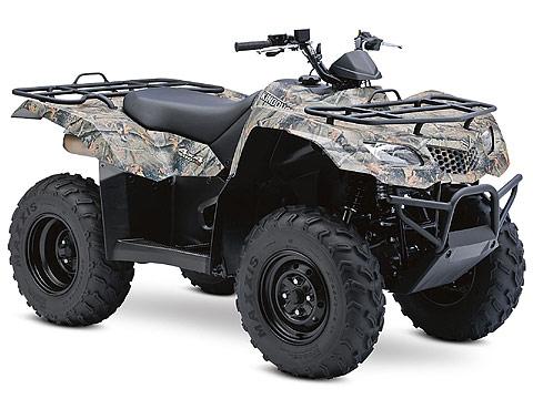 2013 Suzuki KingQuad 400FSi Camo ATV pictures. 480x360 pixels