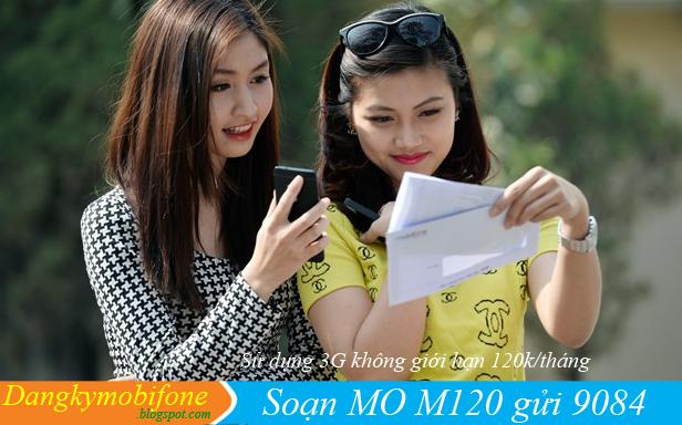 Hướng dẫn đăng ký 3G gói cước M120 của Mobifone