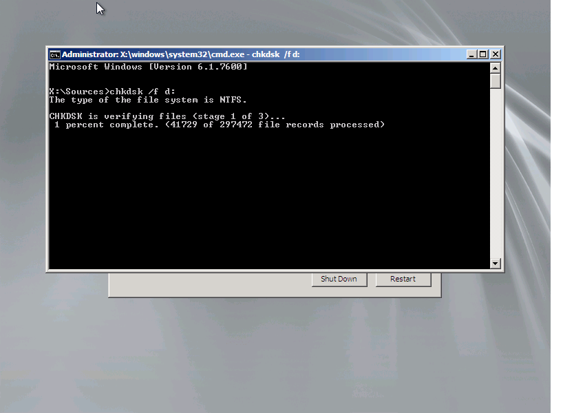 Ayman\u0027s Tech Blog: Autochk cannot run due to an error caused by a