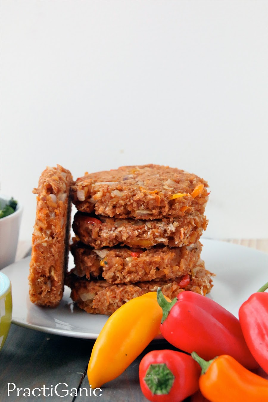 Leftover Refried Beans & Rice Burgers | PractiGanic: Vegetarian ...
