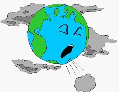 ... little funny picture showing that the earth and pollution DO NOT mix