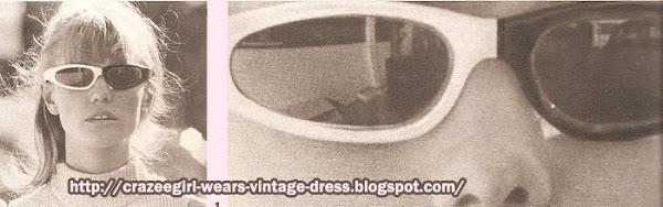 """sunglasses 1966 60s 1960 black white lunettes """"noir et blanc"""" - Printemps"""