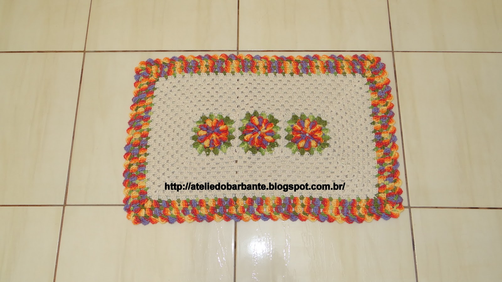 Ateli Do Croch P Gina 23 De 44 Simone Eleot Rio Flores De  -> Tapete Croche Grande