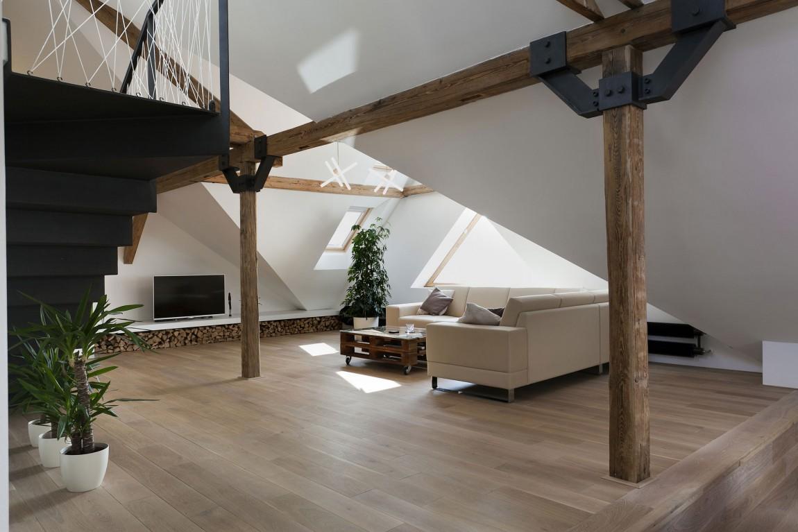 Ristrutturazione di un loft a praga by b architecture arc art