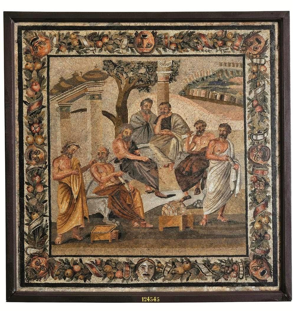 La Academia de Platón. 110-80 aC. MAN di Napoli. ©Sopraintendenza per i Beni Archeologici di Napoli e Pompe