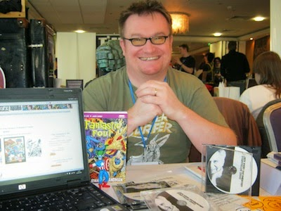 Russell Payne at the Cardiff International Comic Convention