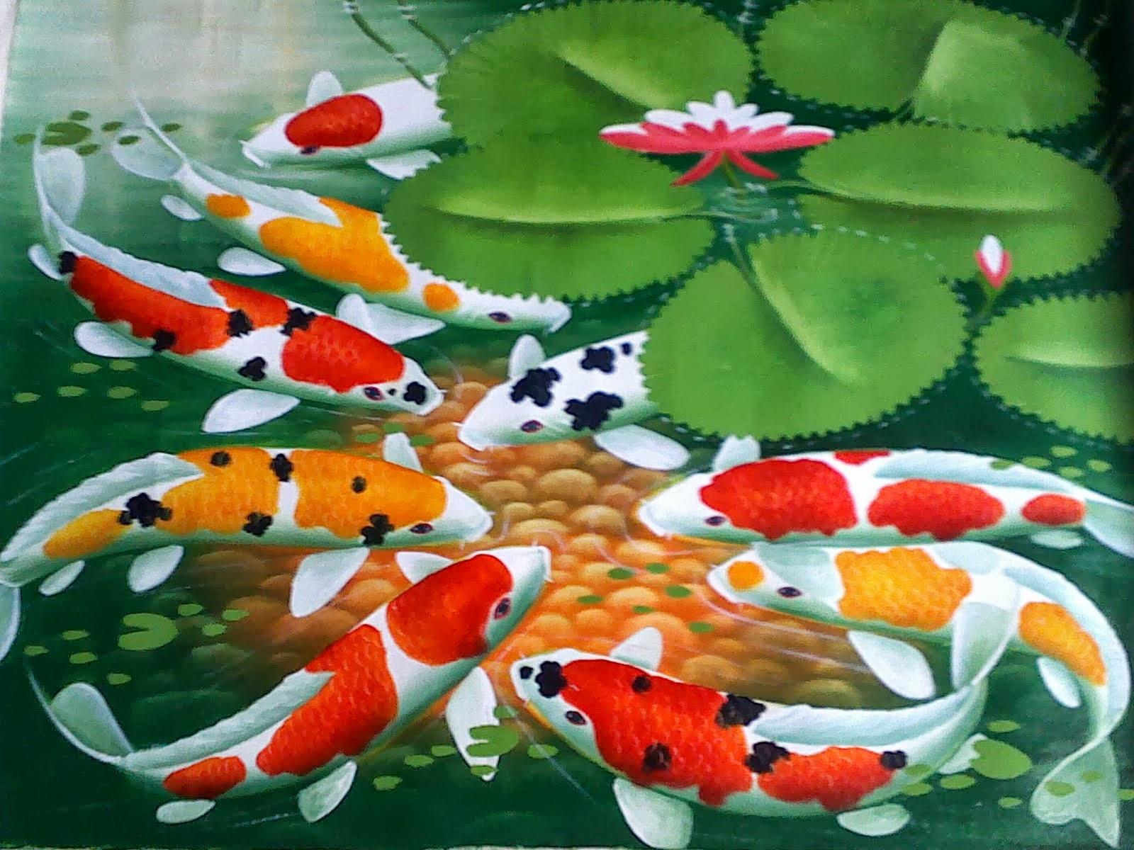 Gambar Ikan Koi - Animasi Korea Meme Lucu Emo Bergerak