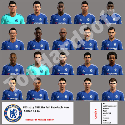 PES 2013 Chelsea New Season 15-16 Full FacePack By TopHardSoft