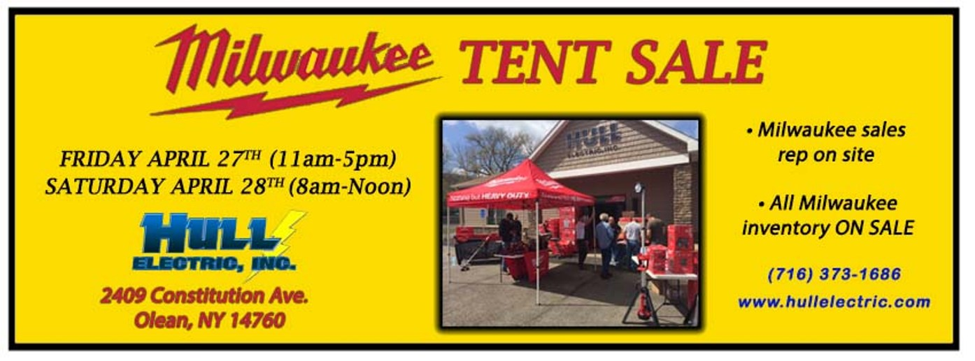 Hull Electric Milwaukee Tent Sale