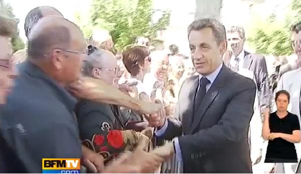 Nicolas Sarkozy agressé à Agen