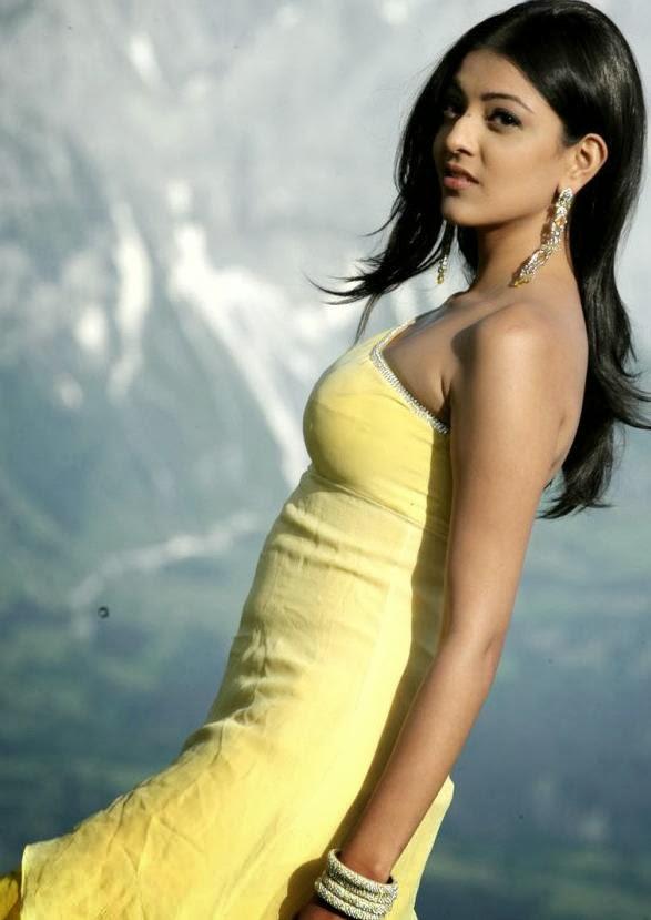 Kajal+Agarwal+Photos+in+Yellow+Dress003