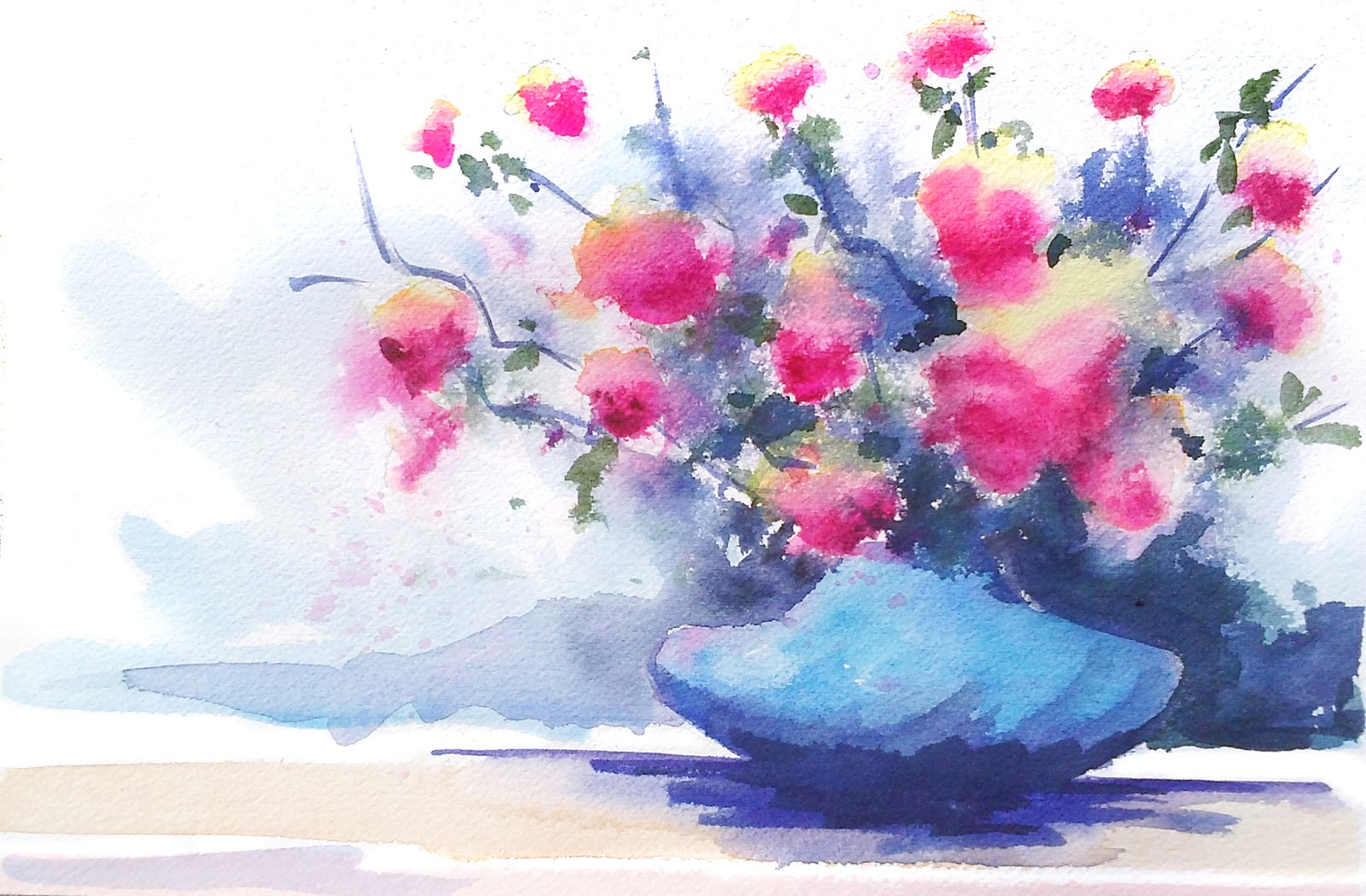 painting loose watercolor flowers Video Search Engine at Search